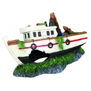 Trixie Ornements pour poissons Fishing Boat