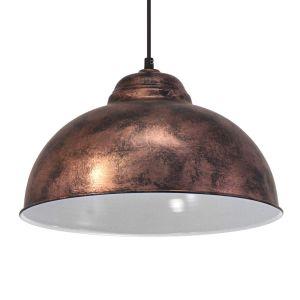 Eglo 49248 Suspension Truro acier diamètre 37 cm E27 Vintage, cuivre antique