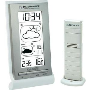 La Crosse Technology WD2123 - Station météo avec capteur extérieur pour température intérieur et extérieur