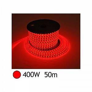 Vision-El BOBINE LED 5050 50 M 8W/M 230 V IP65 ROUGE + ALIM
