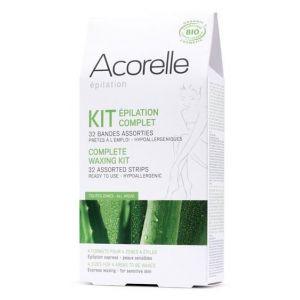 Acorelle Kit épilation complet de cire froide 32 bandes