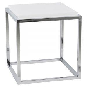 Kokoon Design Cube de rangement ou table d'appoint KVADRA (BLANC)