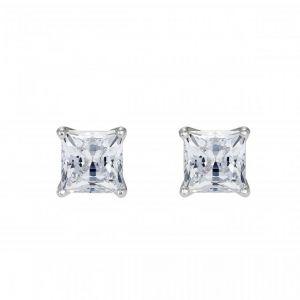 Image de Swarovski Boucles d'oreilles 5509936 - Clous Métal Pierres en cristal étincelants carrées Femme