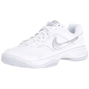 Nike Performance COURT LITE Chaussures de tennis sur terre battue white/matte silver/medium grey