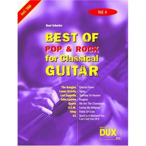 Edition Dux Best of Pop & Rock for Classical Guitar Solf. & Tab Vol.4