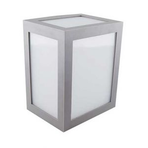 V-TAC VT-822 applique murale LED 12W wall light cube corps gris blanc chaud 3000K IP65 - sku 8337