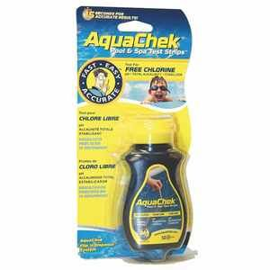 AquaChek Languettes d'analyse jaune 4 en 1 (chlore)
