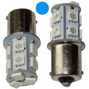 Aerzetix : 2x ampoule P21W R5W R10W 12V 13LED SMD bleu base 1156
