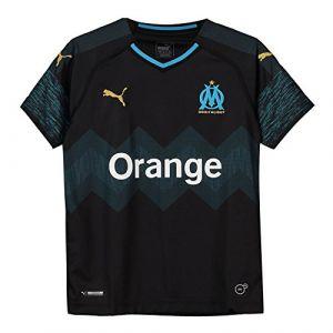 Puma T-shirt enfant Maillot extérieur pour enfant OM 2018-2019 Noir - Taille 10 ans