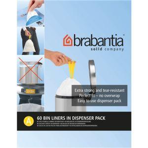 Brabantia 348983 - 60 sacs de poubelle avec poignée coulissantes (3 L)