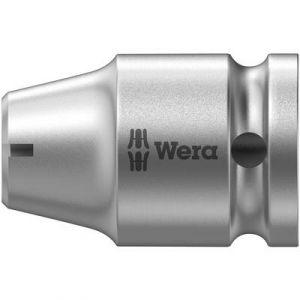 Wera Raccord à prise de force à 6 pans 1/4'' entraînement à 4 pans 3/8'' avec segment d'arrêt, Long. totale : 30 mm -