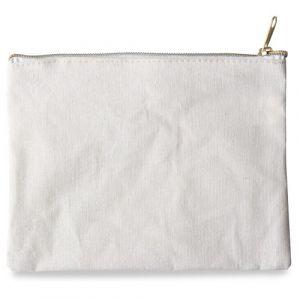 Pochette en tissu naturel (21x16cm)
