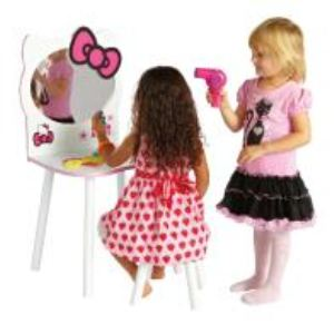 Worlds Apart Coiffeuse et tabouret Hello Kitty