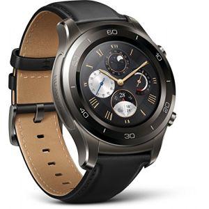 Huawei Watch 2 Classic Gris Titane - Montre connectée bracelet cuir