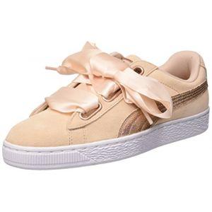 Image de Puma Suede Heart Lunalux Wn's, Sneakers Basses Femme, Beige (Cream Tan), 36 EU