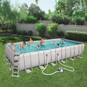 Bestway Ensemble de piscine Power Steel Rectangulaire 56474