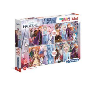 Clementoni Puzzle SuperColor 2x20 + 2x60 pièces - La Reine des Neiges 2