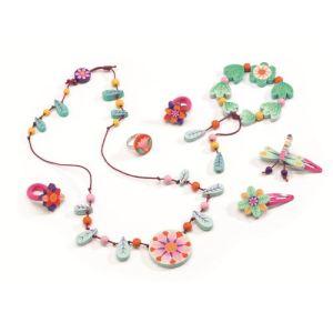 Djeco Parure de bijoux en bois : Paradis des fleurs