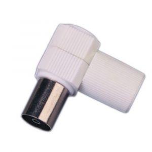 Optex Fiche coaxiale coudée diamètre 9,52 mm - Femelle