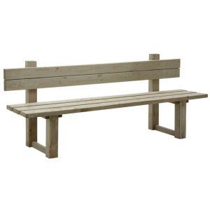 Aubry Gaspard AUB-0327 - Banc de jardin avec dossier en bois traité autoclave