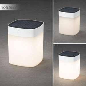 Konstsmide Lampe de table solaire LED Assisi 1 W blanc chaud blanc