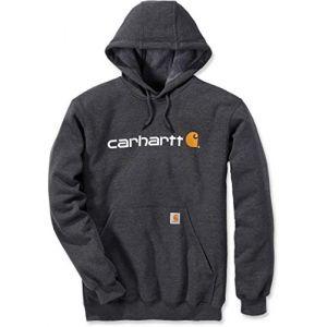 Carhartt Mens Stretchable Signature Logo Hooded Sweatshirt Top