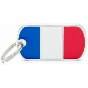 Myfamily Médaille flags drapeau France
