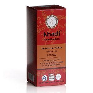 Khadi Henna Pur Rouge - Teinture ayurvédique aux plantes