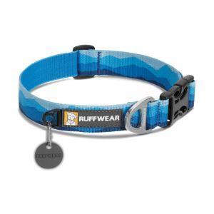 Ruffwear Collier classique pour chien, Chiens de grande à très grande taille, Taille ajustable, Taille: L (51-66 cm), Bleu (Blue Mountains), Hoopie Collar, 25203-9022026