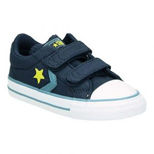Converse Chaussures casual Star Player basses à scratch en toile Spring Essentials Bleu marine - Taille 23