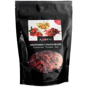 Agovie Melange de fruits Cranberries, Goji, Physalis 250 g