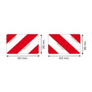 Ama Kit 2 Panneaux Aluminium pour convoi agricole France 423x282x1 mm