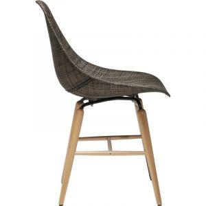 Kare Design Chaise Forum en résine Marron