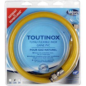 Wpro TNE 150 - Tuyau flexible inox pour gaz naturel (1.50 m)