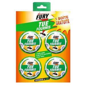 Fury Boîte appât insecticide anti-fourmis x4
