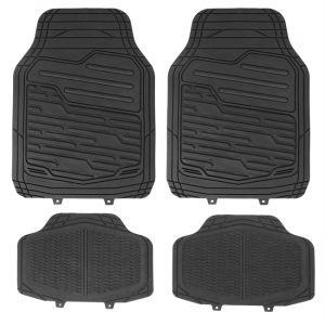 HVD 4 tapis de voiture universels en PVC HVD noir