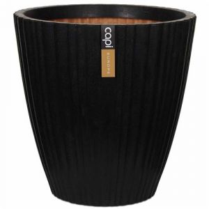 Capi Pot à fleurs Urban Tube Conique 55 x 52 cm Noir PKBLT802