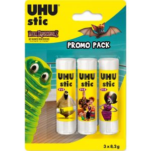 UHU Lot de 3 bâtons de colle - 8g