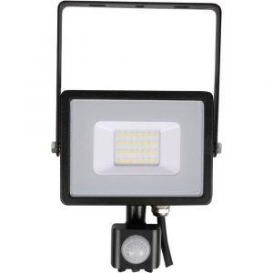 V-TAC VT-20-S 452 Plafonnier LED extérieur avec détecteur de mouvement 20 W EEC: LED (A++ - E) blanc neutre