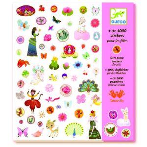 Djeco + de 1000 stickers pour les filles