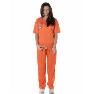 Déguisement prisonnière orange adulte