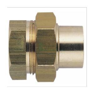Riquier Raccord Union Fer / Cuivre - Femelle / Femelle (L340 G-cu) - Diamètres 50/60 - 54 mm