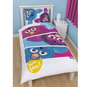 Character World Furby Hasbro - Housse de couette et taie (135 x 200 cm)