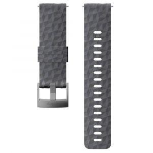 Suunto Bracelet Explore 1 Silicone - 24 mm Accessoires montres/ Bracelets Gris/argent - Taille TU