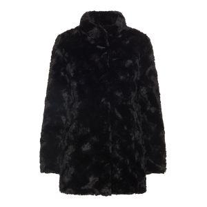 Vero Moda Vestes Vero-moda Curl High Neck Faux Fur Ki - Black - XL