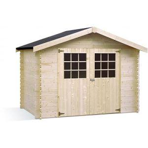 Jardipolys Liverpool - Abri de jardin en bois 28 mm 5,90 m2