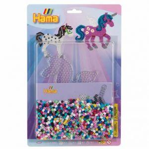 Hama 4079 - Midi blister GM - Plaque Licorne + perles