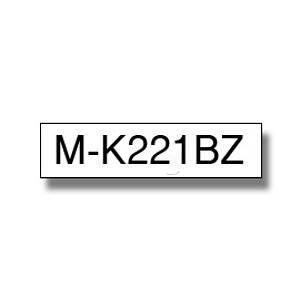 Brother Ruban série M MK221BZ - Ruban noir/blanc - 9 mm x 8 m