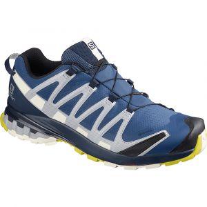 Salomon Homme Chaussures de Trail Running, XA PRO 3D v8 GTX, Couleur: Bleu (Dark denim/Navy Blazer/Vanilla Ice), Pointure: UE 42 2/3