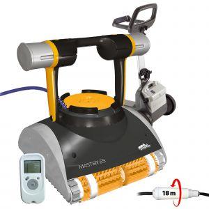 Dolphin Master e5 Robot électrique de piscine fond, parois et ligne d'eau avec télécommande et chariot